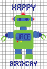 Robot Green Personalized Poster