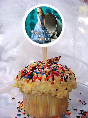 Alice The Movie Personalized Cupcake Toppers