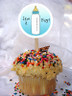 Baby Bottle Personalized Cupcake Toppers