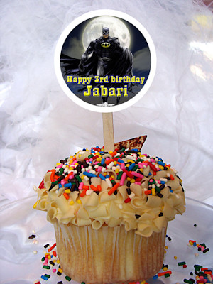 Batman Personalized Cupcake Toppers