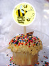 Bee Personalized Cupcake Toppers