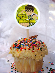 Ben 10 Personalized Cupcake Toppers