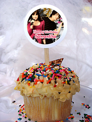 Camp Rock Personalized Cupcake Toppers