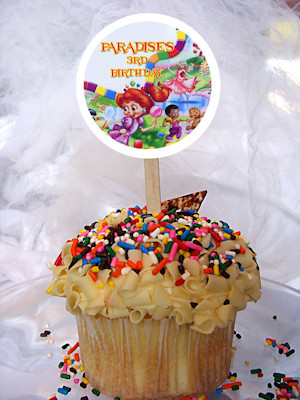 Candy Land Personalized Cupcake Toppers