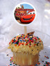 Cars Personalized Cupcake Toppers