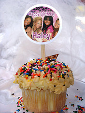 Cheetah Girls Personalized Cupcake Toppers