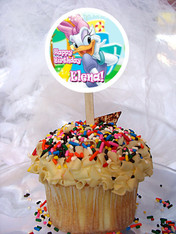 Daisy Duck Personalized Cupcake Toppers