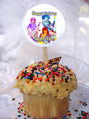 Doodlebops Personalized Cupcake Toppers