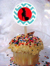 Fashion Boot Personalized Cupcake Toppers