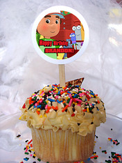 Handy Manny Personalized Cupcake Toppers