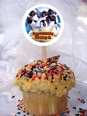 Happy Feet Personalized Cupcake Toppers