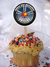 Hot Wheels Personalized Cupcake Toppers