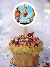 Ice Age Personalized Cupcake Toppers