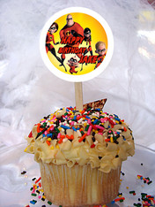 Incredibles Personalized Cupcake Toppers