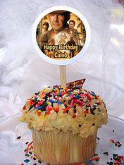 Indiana Jones Personalized Cupcake Toppers