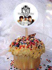 Jonas Brothers Personalized Cupcake Toppers