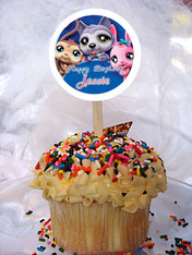 Littlest Pet Shop Personalized Cupcake Toppers