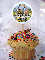 Madagascar Personalized Cupcake Toppers