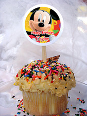 Mickey Mouse Personalized Cupcake Toppers