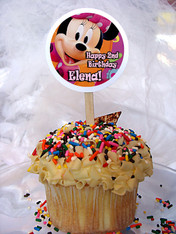 Minnie Mouse Personalized Cupcake Toppers