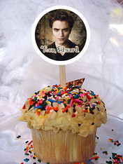 Twilight Edward cupcake toppers