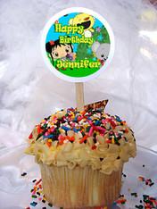 Ni Hao Kai Lan Personalized Cupcake Toppers