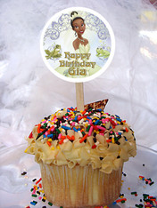 Princess and the Frog Personalized Cupcake Toppers