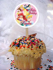 PrincessPersonalized Cupcake Toppers