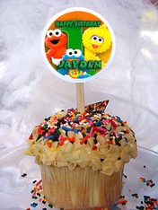 Sesame Street Personalized Cupcake Toppers