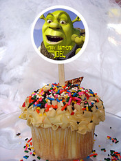 Shrek Personalized Cupcake Toppers