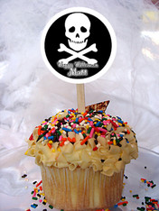 Skull Personalized Cupcake Toppers