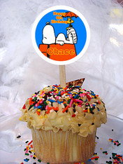 Snoopy Personalized Cupcake Toppers