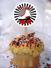 Skate Personalized Cupcake Toppers