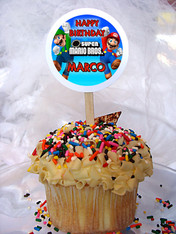 Super Mario Brothers Personalized Cupcake Toppers