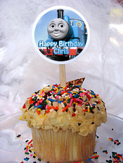 Thomas The Train Personalized Cupcake Toppers