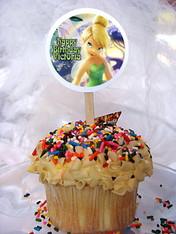 Tinkerbell Personalized Cupcake Toppers