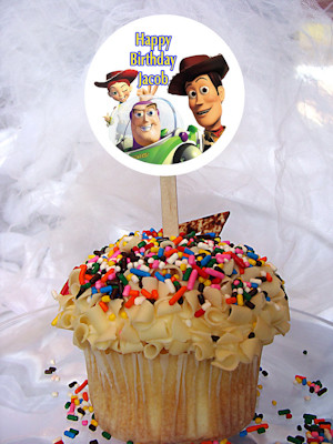 Toy Story Personalized Cupcake Toppers