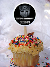 Transformers Personalized Cupcake Toppers