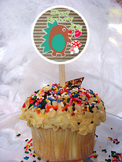Woodland Creatures Personalized Cupcake Toppers