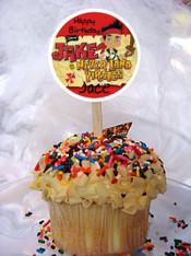 Jake cupcake toppers