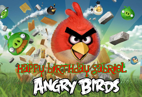 Angry Birds Personalized Poster