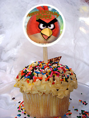 Angry Birds Personalized Cupcake Toppers