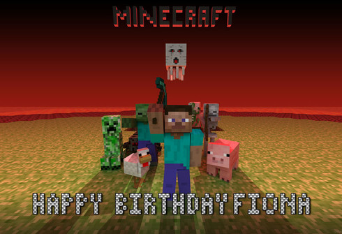 Minecraft Personalized Poster