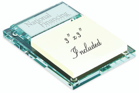 Jade glass sticky note holder #3410-20