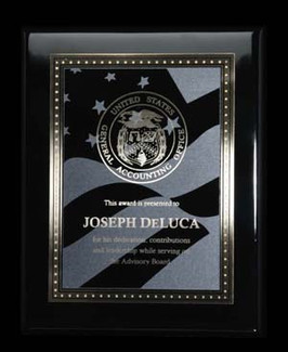 Heritage high luster black plaque with plate 4510-59