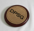 Mahogany finish wood coaster 4363-57