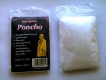 Clear Disposable Rain Poncho