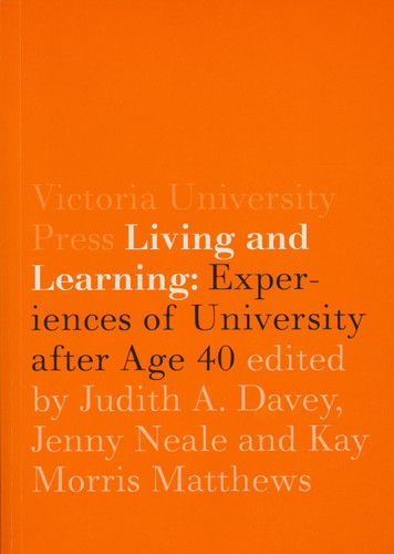 Living and Learning: Experiences of University after Age 40