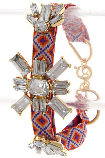Sasha Friendship Bracelet in Orange/Blue