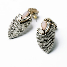 Dusty Pink, Topaz and high shine pave crystals